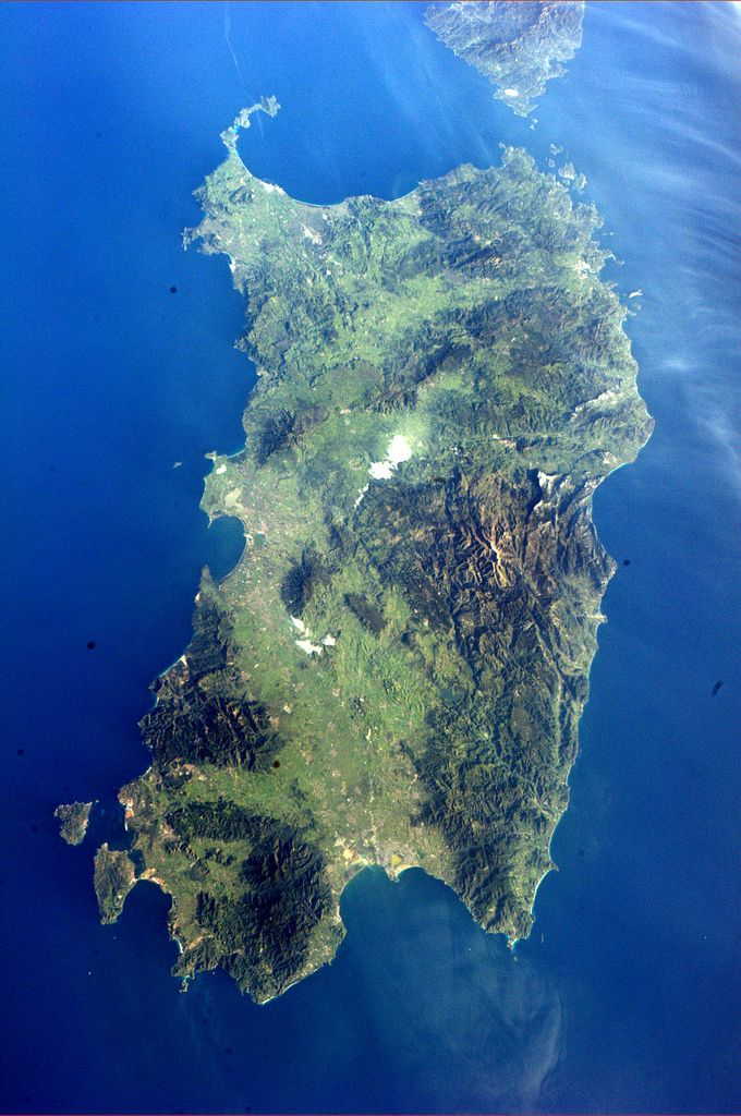 Sardinia from space (taken by Paolo Nespoli http://www.flickr.com/photos/magisstra/5609316823/in/photostream )