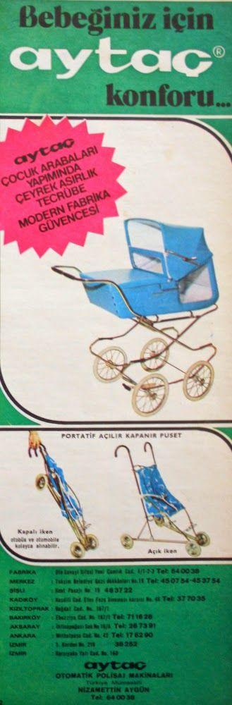 OĞUZ TOPOĞLU : aytaç çocuk arabası 1975 nostaljik eski reklamlar