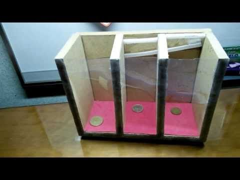 Coin Sorting Machine (Runs on Gravity) | diy | Coin ...