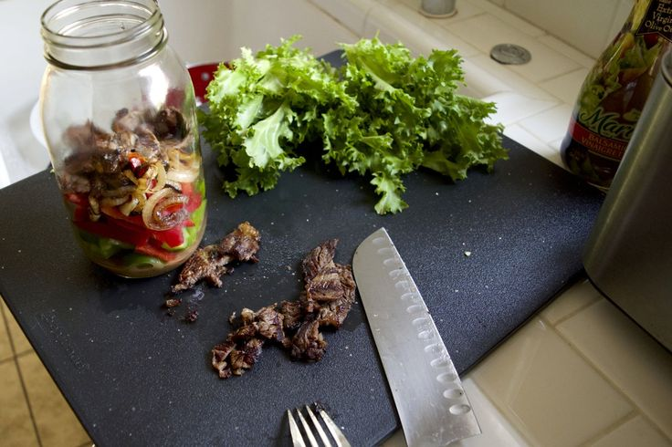 Grilled Steak and Pepper Medley Mason Jar Salad [plus, a chance to win a Weber grill!]