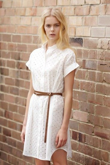 Super pretty cotton shirt dress from Skin and Threads