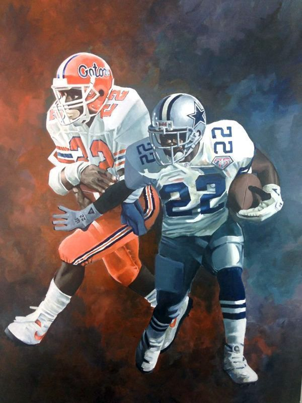 "Emmitt Smith ""Gator & Cowboy"" by Dan Stromme #NFLFootballBoys"