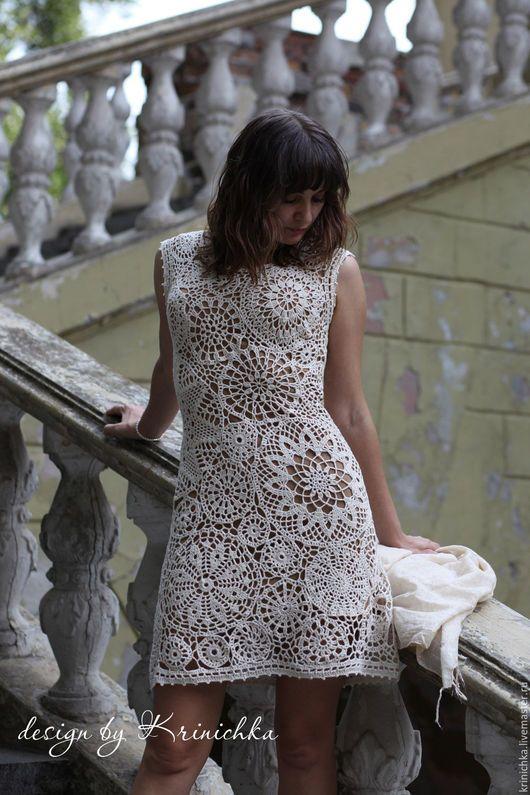 """Платья ручной работы. Ярмарка Мастеров - ручная работа. Купить Коктейльное платье """"Римские каникулы"""". Handmade. Молочный цвет, белый"""