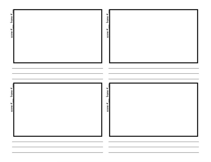 Storyboard Template Storyboards Close Up Storyboards