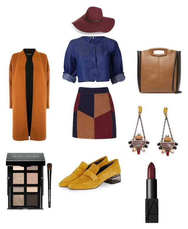 """""""Untitled #24"""" by evachrisomalli-1 on Polyvore featuring LaMarque, Topshop, Maje, Warehouse, Halogen, Bobbi Brown Cosmetics and NARS Cosmetics"""