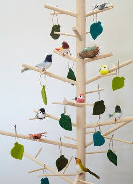 Minimal Christmas Tree, Wood by ReTree contemporary holiday decorations