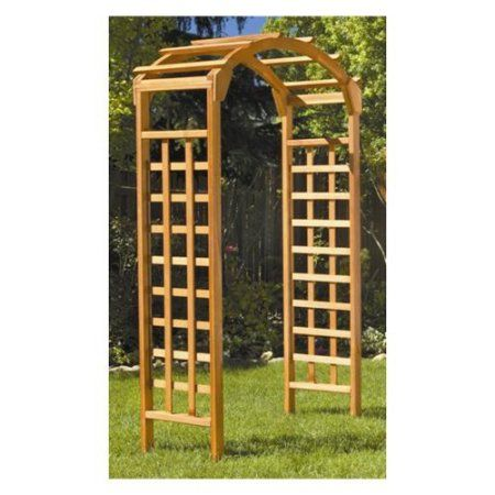 Greenstone Natural Arch 7 ft. Wood Arbor Side to Side: -50''. Overall Depth - Front to Back: -20''. Overall Product Weight: -40 lbs. 190