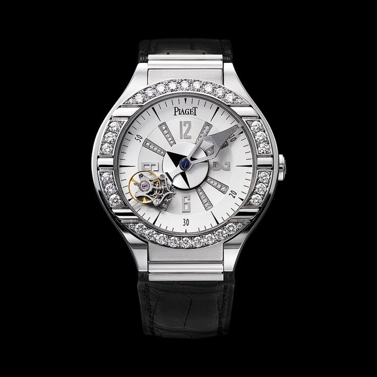 Piaget Polo Watch G0A31148, Tourbillon relatif, mechanical, white gold, diamonds