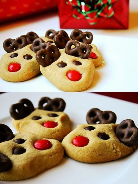 cute Reindeer cookies for 2013 christmas party, DIY christmas Reindeer cookies #Christmas #reindeer #cookies www.loveitsomuch.com