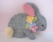 Felt Brooch Bird  Easter Beaded Flower Felted Wool. $12.50, via Etsy.