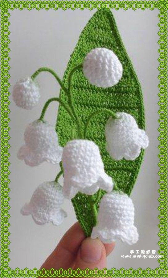 Modern Crochet Flower Pattern : 1000+ images about Lily of The Valley on Pinterest