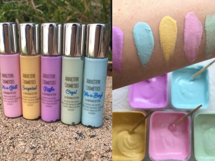 PASTEL LIP TINTS- All Natural, Vegan Friendly Mini lip glosses