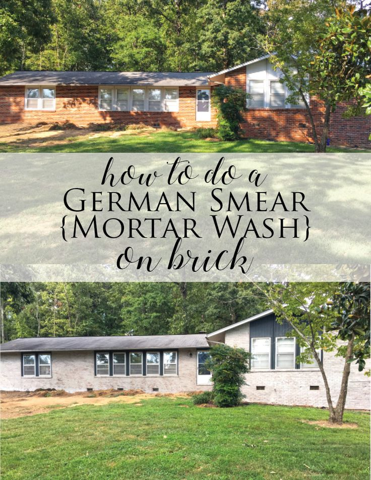 How To Do A German Smear Mortar Wash On Brick Dave And