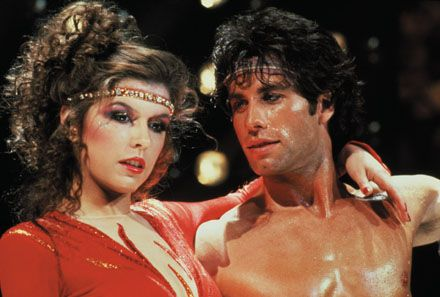 Finola Hughes and John Travolta in Staying Alive.