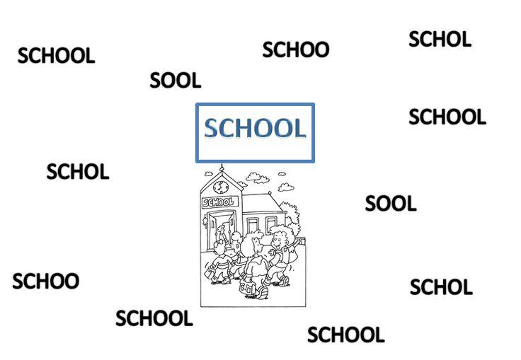 werkblaadje: woord zoeken: school