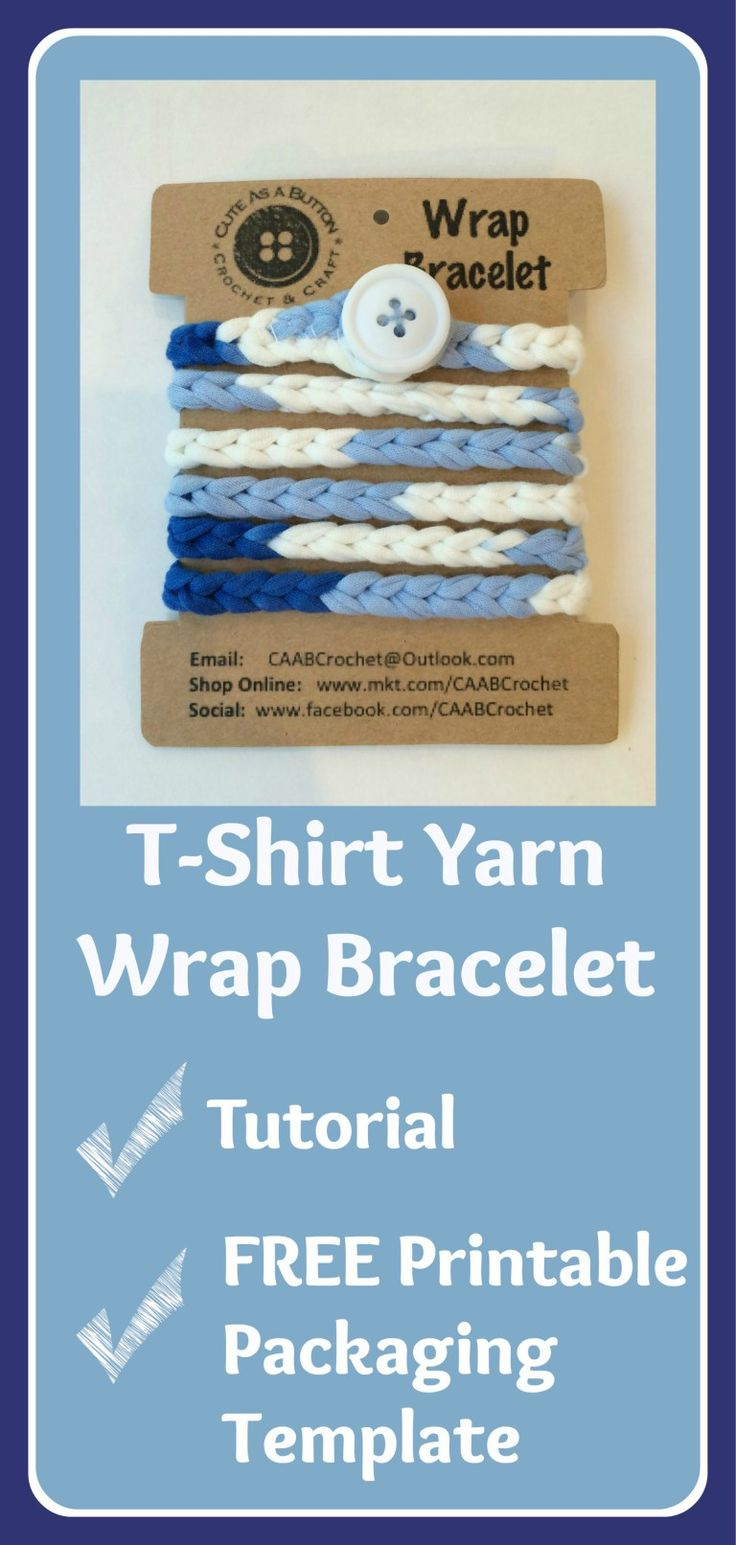 Free tutorial and printable template from Cute As A Button Crochet & Craft