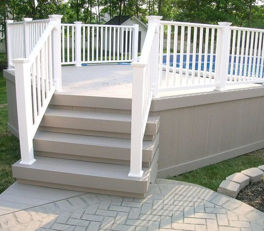 pool decks decking above ground pool deck steps above ground pool