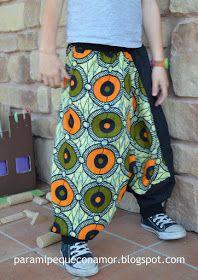 Para mi peque con amor: Sarouel de La Pantigana... patrón básico en tela africana.