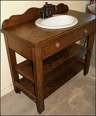 vintage bathroom vanity with sink antique bathroom vanity antique oak server - Vintage Bathroom Vanity