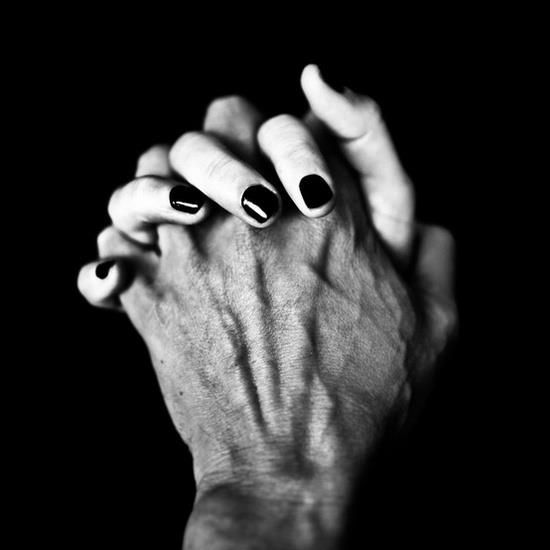 The Space between yours fingers is filled with mine... Love.