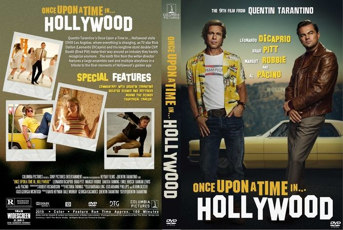 Once Upon A Time In Hollywood 2019 Dvd Custom Cover Dvd