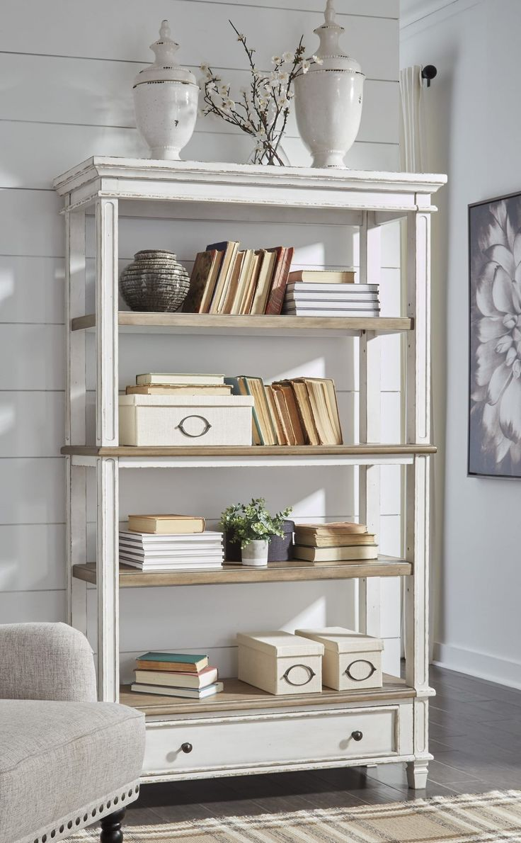 Signature Design by Ashley Realyn Brown/White Bookcase