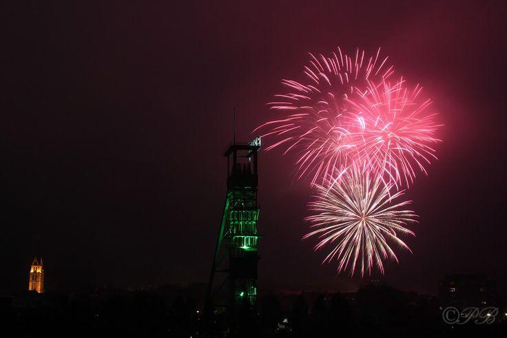 Feuerwerk über Zeche Erin