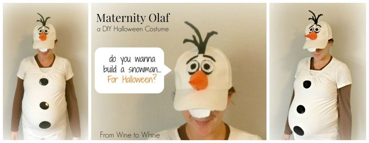 eMake your own Frozen Maternity Halloween Costume!