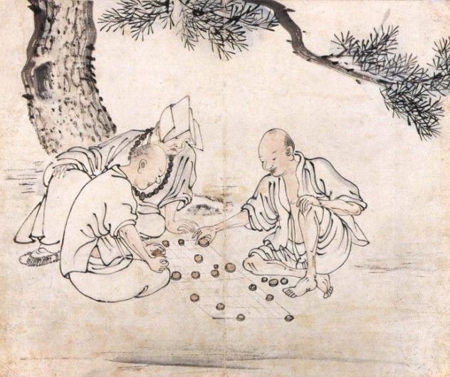 긍재(兢齋) 김득신(金得臣) 作 - 송하기승(松下棋僧)