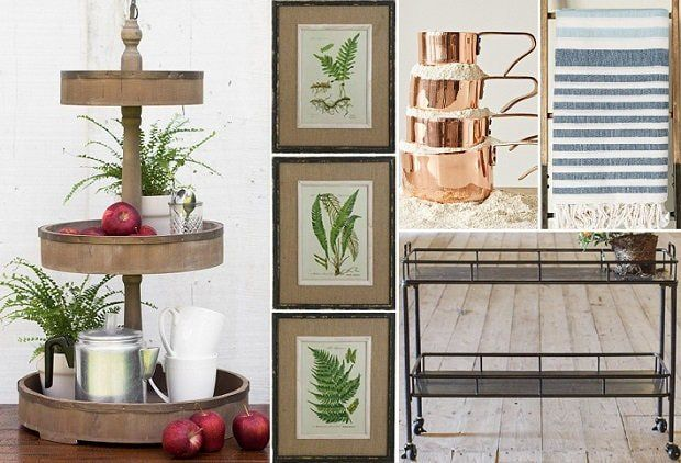 RUSTIC FARMHOUSE FINDS  Enjoy today's event – Rustic Farmhouse Finds – by perusing the vintage inspired accent décor that will bring beauty and timeless historical charm to your home!  Hang our Fern Botanical Prints Framed Wall Art, Set of 6 for colorful style; cook with style when using our Copper Measuring Cups, Set of 4; get cozy with our On A Cloud Stripe Throw Blanket; and our Wood and Tin 3 Tier Tray and Metal Kitchen Cart on Wheels return as customer favorites.  Enjoy!