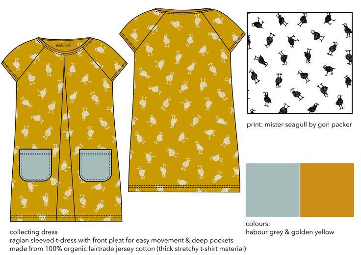 collecting dress. 100% organic fair trade cotton