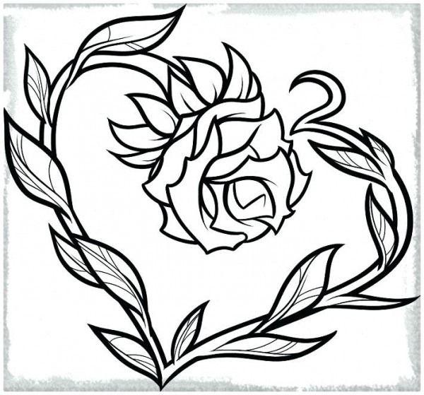 Corazones Y Rosas Para Colorear Para A Corazones Y Rosas Para Dibujos De Corazones Corazones Para Dibujar Dibujos De Rosas
