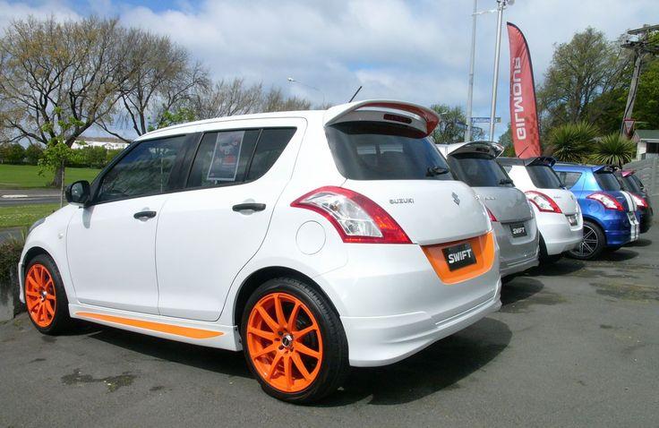 Funky Suzuki Swift with orange accents at Gilmour Motors Suzuki, Dunedin, New Zealand