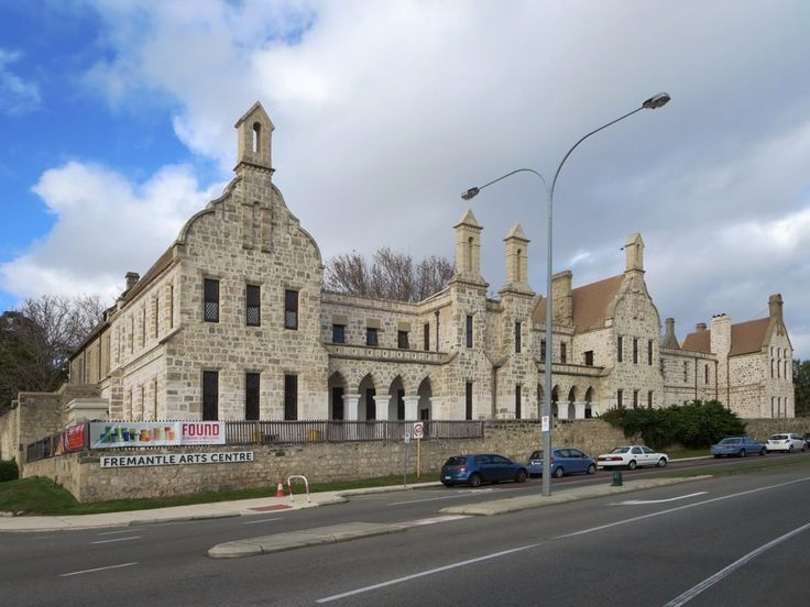 The Fremantle Arts Centre at Fremantle, Western Australia, is housed in an 1860s Gothic Revival lunatic asylum.