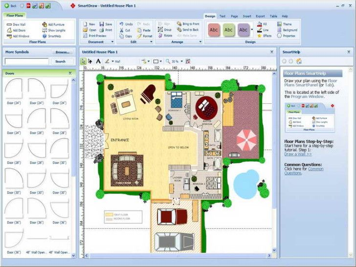 Amazing SmartDraw Floor Plan Best Free Online Virtual Room Programs and Tools