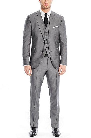 'Johnstons/Lenon WE' | Regular Fit, Virgin Wool Silk 3-Piece Suit