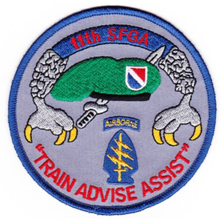 US Army 11th Special Forces Group Alpha TRAIN ADVISE ASSIST Patch - Marine Corps