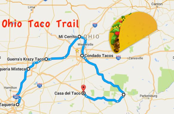 Your Tastebuds Will Go Crazy For This Amazing Taco Trail In Ohio