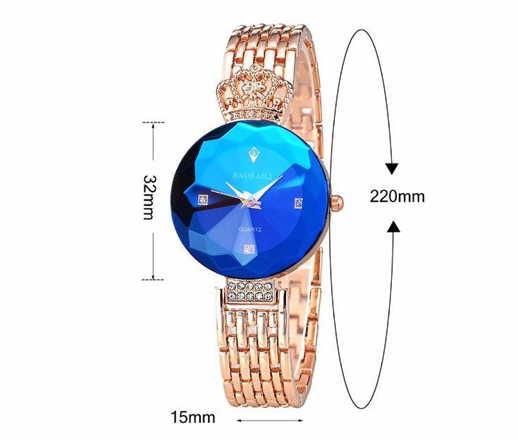BAOSAILI Luxury Imperial Crown Ladies Dress Bracelet Watch Fashion Women Quartz Watch at Banggood   jewelry watches
