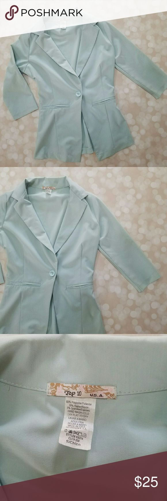 Light Mint Blazer Purchased pre-owned from someone else online.  Excellent condition. Decided not to keep. Jackets & Coats Blazers