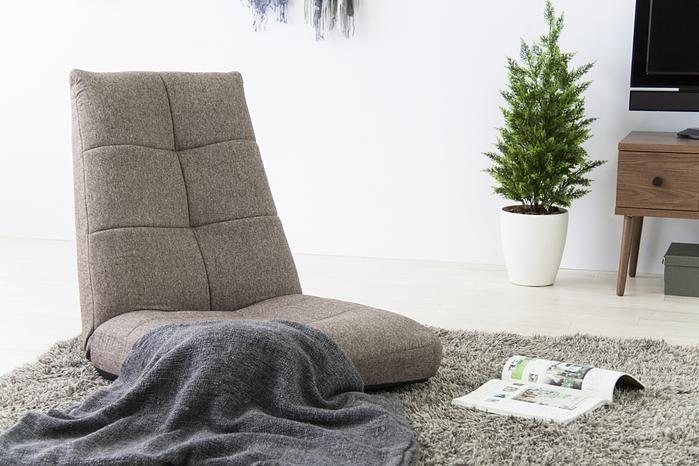 スヌロン_ナチュラル リクライニングチェア(ブラウン)(座椅子・ローチェア)【HOME'S Style Market】 おしゃれな家具・インテリアの通販(商品コード:sm-001-00627-br)