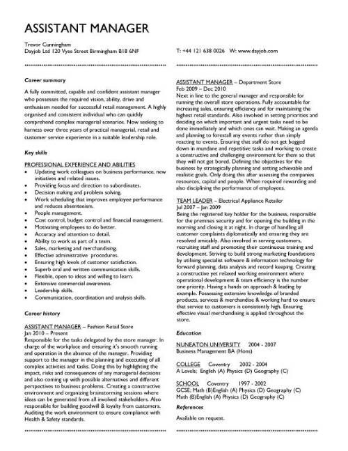 CV TEMPLATE EXAMPLES BY INDUSTRY (click on the links below for specific job roles)