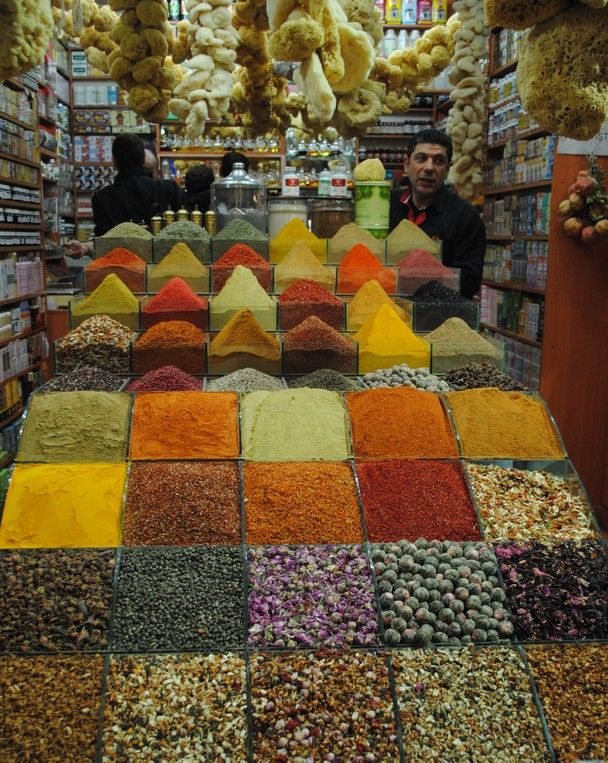 Do you think these come through customs well?? Turkish spice display.. Istanbul. photo by John Lacey