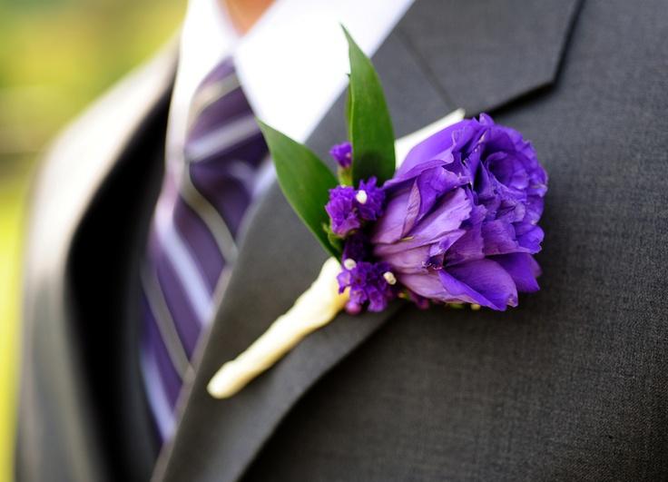 lavender boutonniere-#21