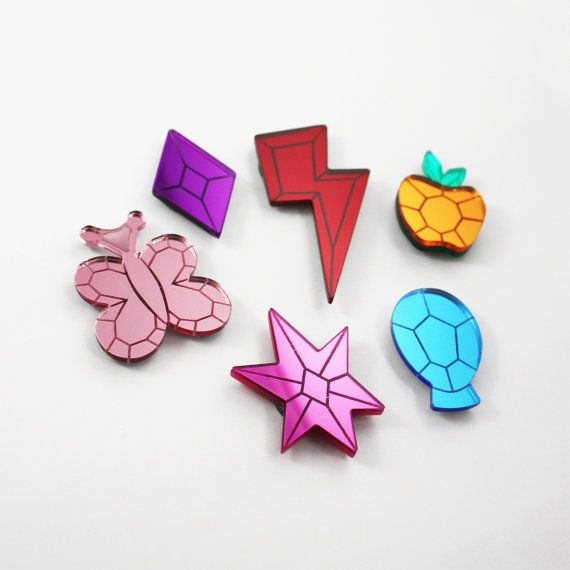 My Little Pony Elements of Harmony Gem Magnets by edenki on Etsy