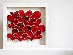 Liebe Herzen moderne Keramik Wandkunst. Engagement von karoArt