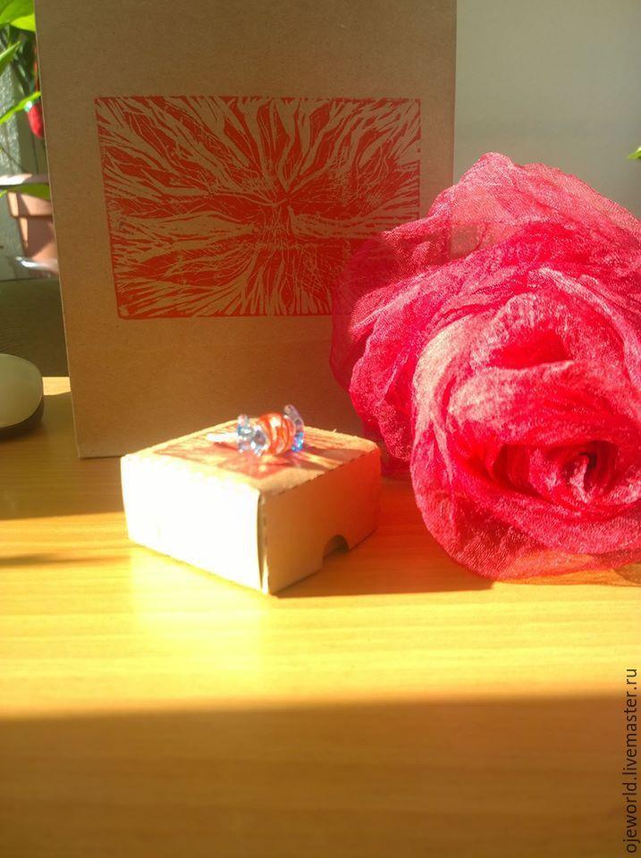 """Купить """"Путешествие по жизни"""""""" шарфы, ручной окраски - абстрактный, шарф шелковый, шарф ручной работы, OlgaJW"""