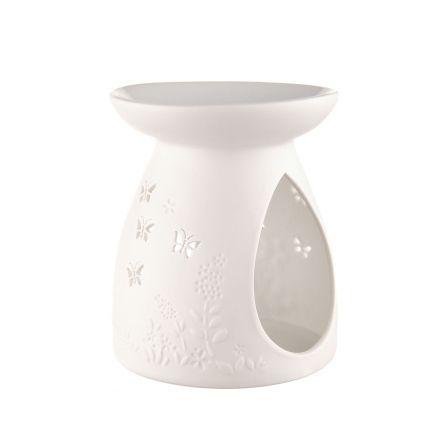 OIL BURNER Porcelain Butterfly 10.5x12.5cm | Karma Living
