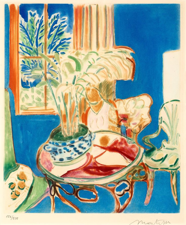 Henri Matisse, 'Petit Intérieur Bleu', 1952.