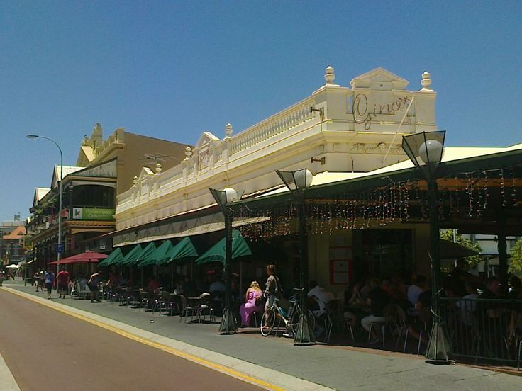 This is Gino's Cafe in Fremantle. it's probably the best known and oldest of many in the port city.